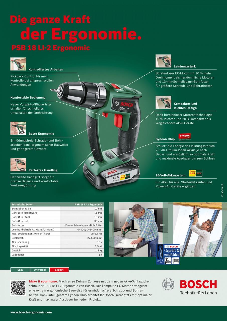 Tearsheet Bosch PSB 18 LI-2 Ergonomic